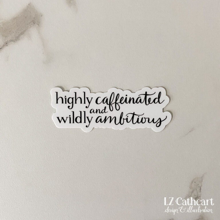 caffeinated sticker