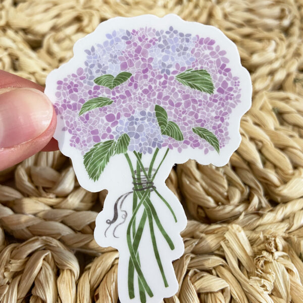 Hydrangea Bouquet Sticker