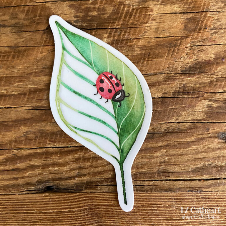 lady bug vinyl sticker