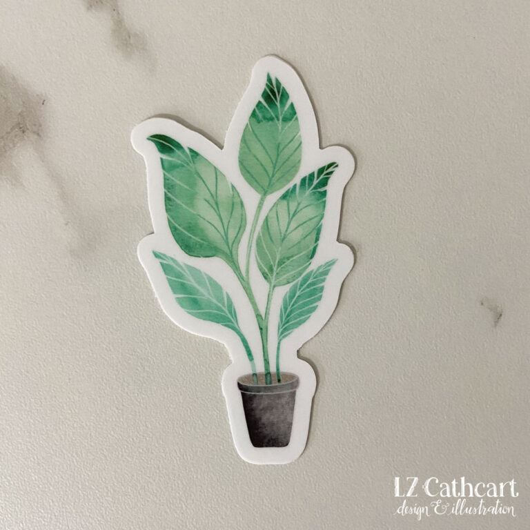 potted palm sticker
