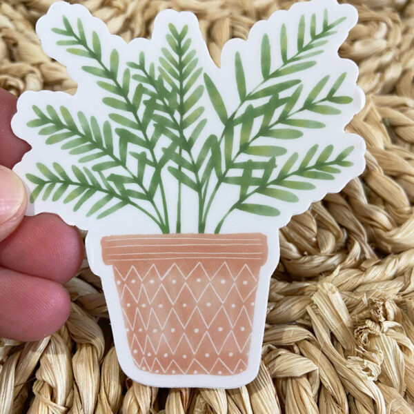 potted planter sticker