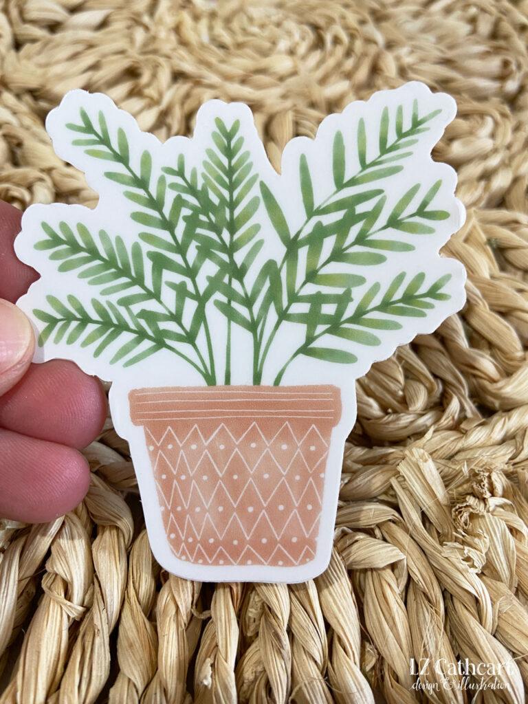 potted planter sticker
