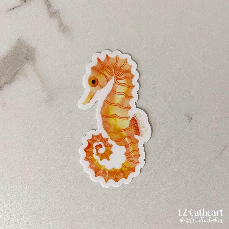 seahorse sticker