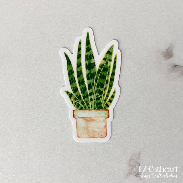 snake plant sticker