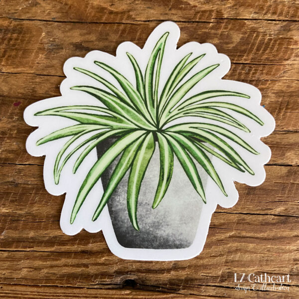spider plant sticker