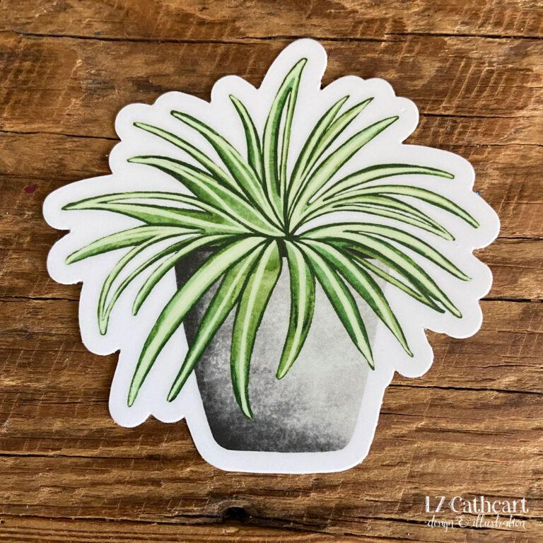 spider plant sticker