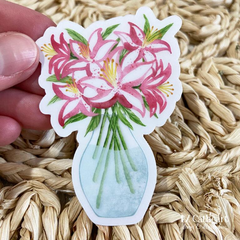 stargazer lily sticker