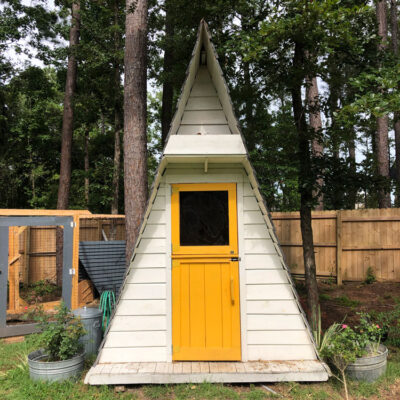 A Whimsical and Inspirational Backyard Chicken Coop