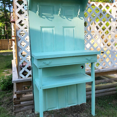 Create a Potting Table from an Old Door