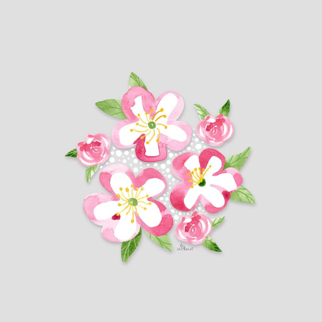 spring blossom illustration