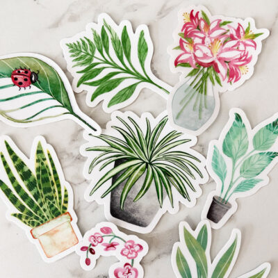 Delightful Plant Stickers to Brighten Your Day
