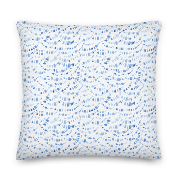 blue boho pillow