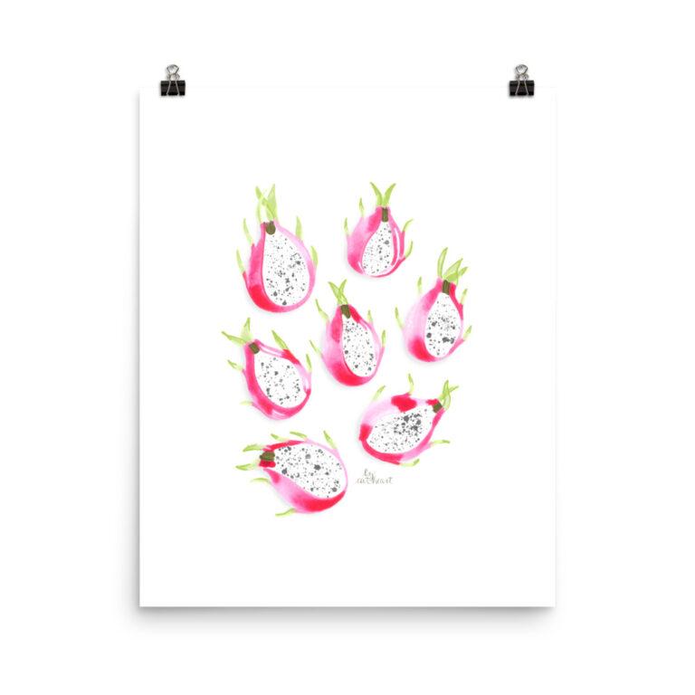 dragonfruit art print
