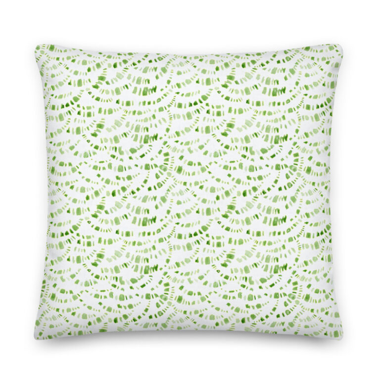 green boho pillow