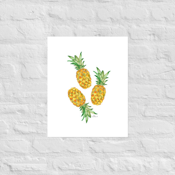 watercolor pineapple art print