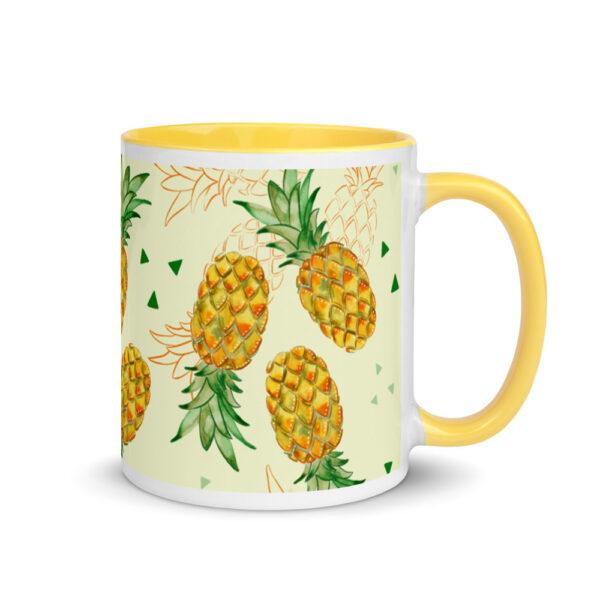 watercolor pineapple mug
