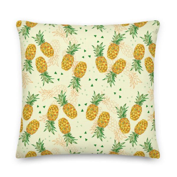 watercolor pineapple pillow