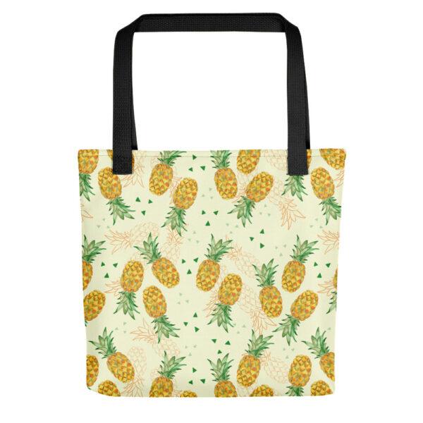 watercolor pineapple tote bag