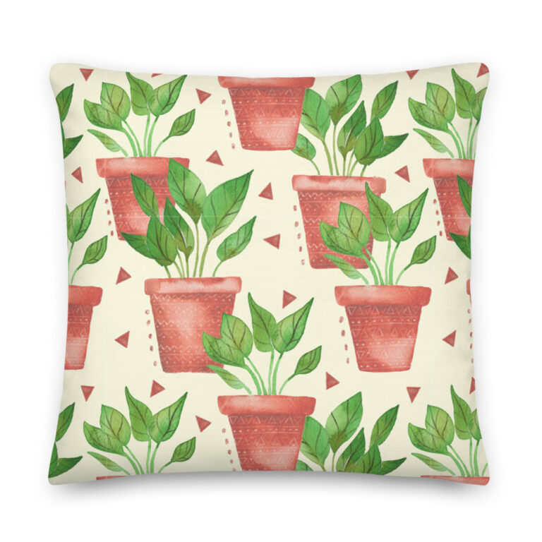 potted plant pillow