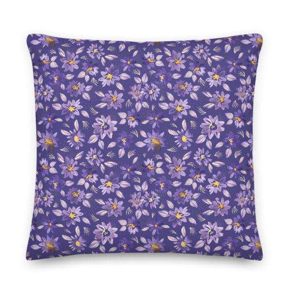 purple clematis pillow