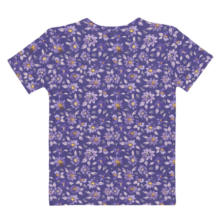purple clematis tshirt