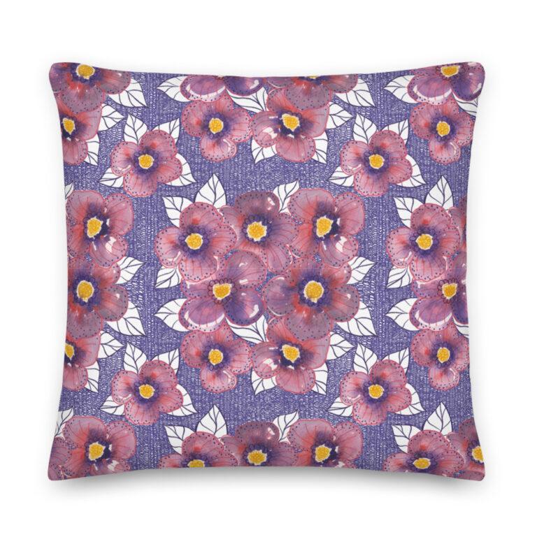 purple cosmos pillow