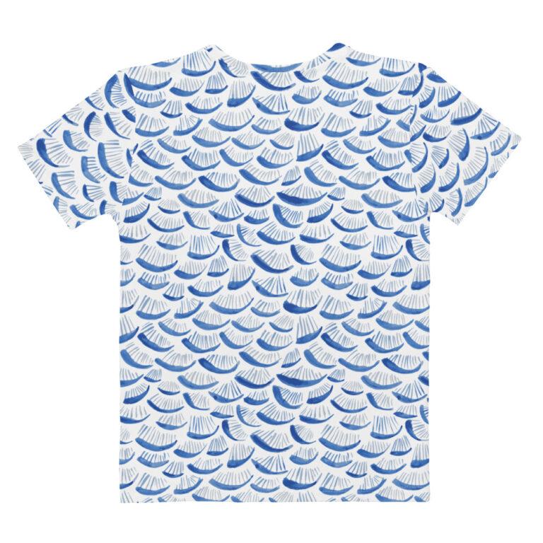blue watercolor tshirt