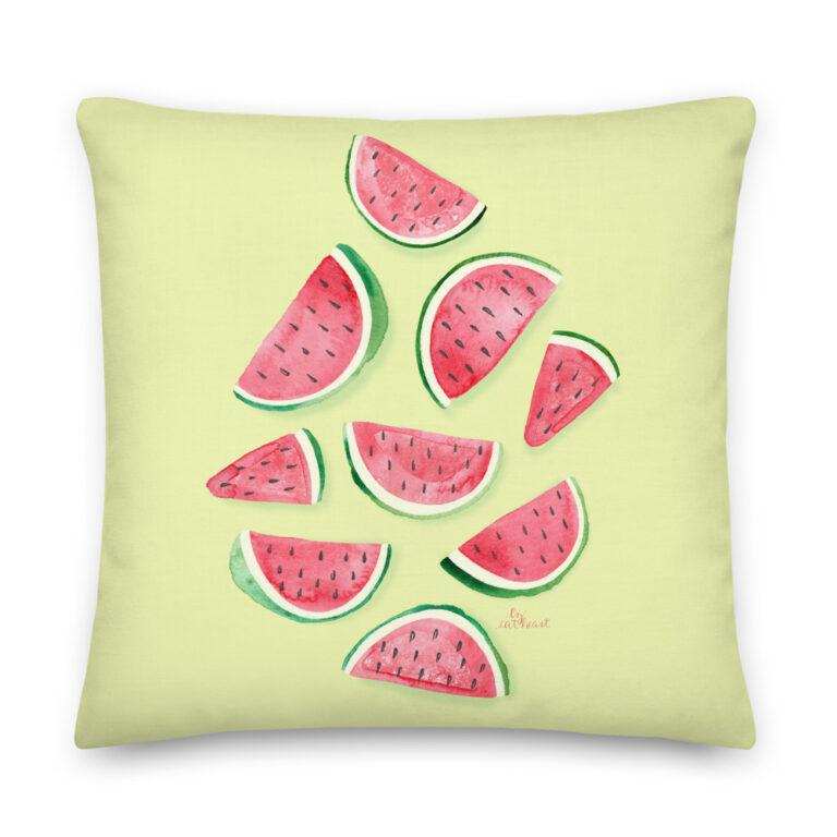 watermelon slice pillow