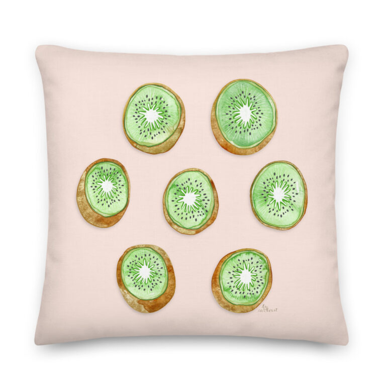 kiwi pillow