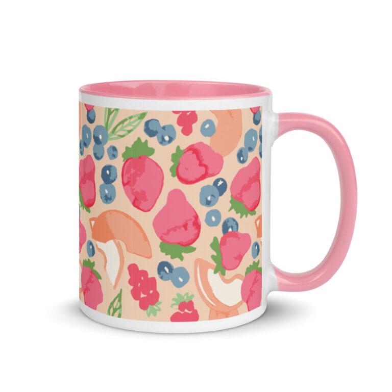 fruit art mug