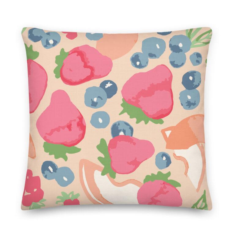 fruit art pillow