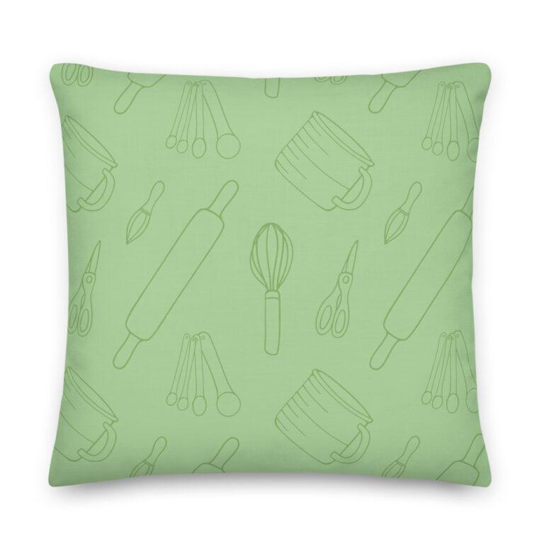 baking utensils lime pillow
