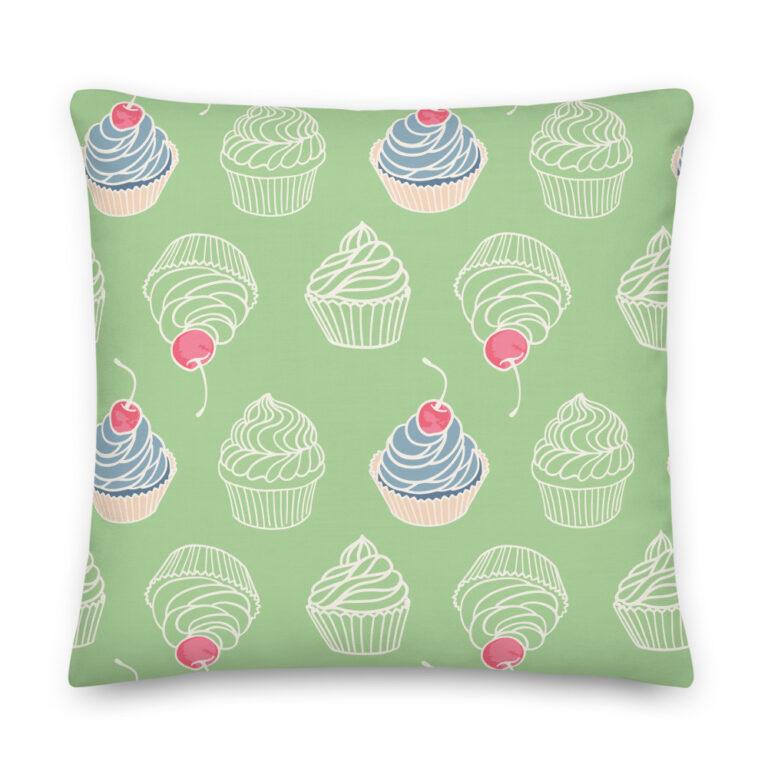 blueberry cupcakes pillow