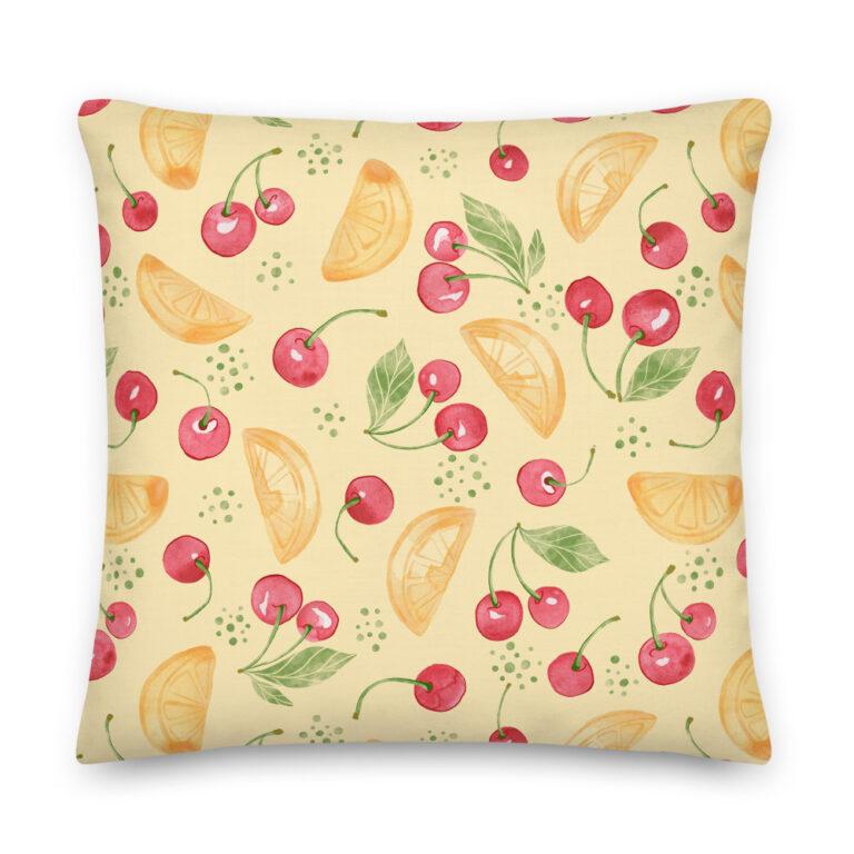 lemon design pillow