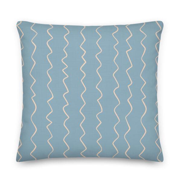 blue stripes pillow