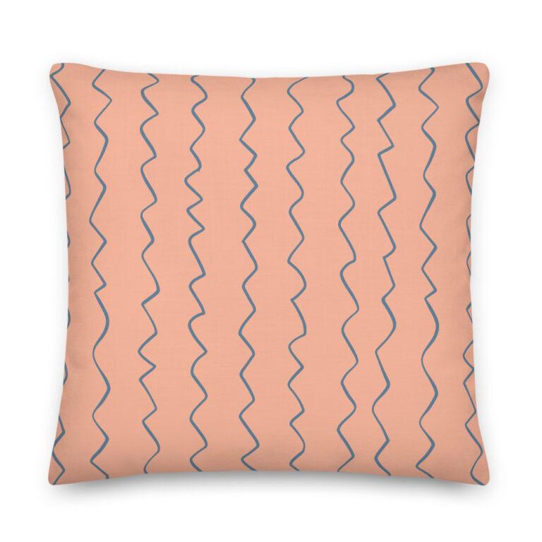 peach stripes pillow