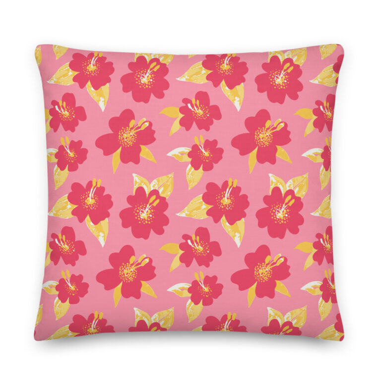 lily pillow pink