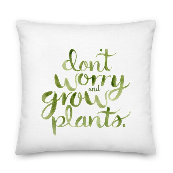 grow plants pillow