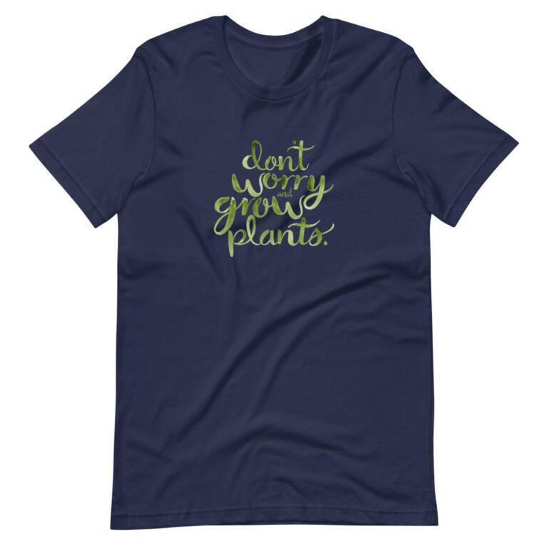 navy plant lady tshirt