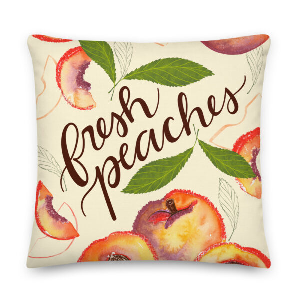 fresh peaches pillow