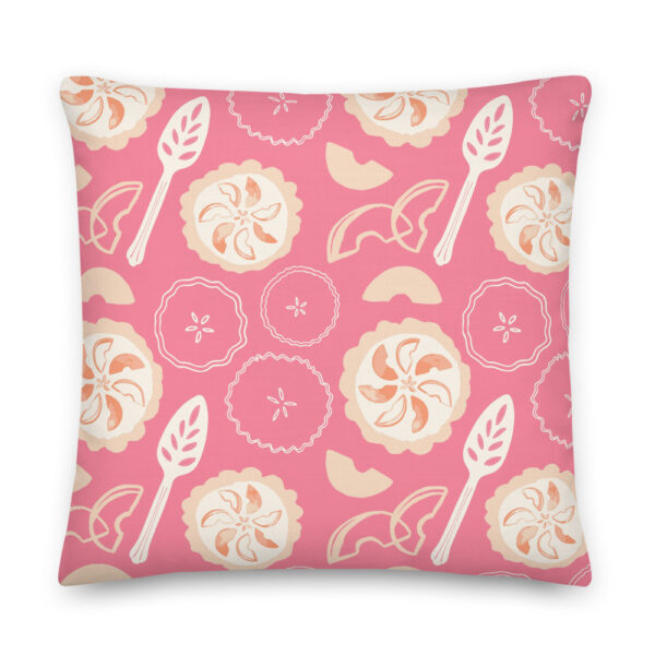peach pie pillow pink