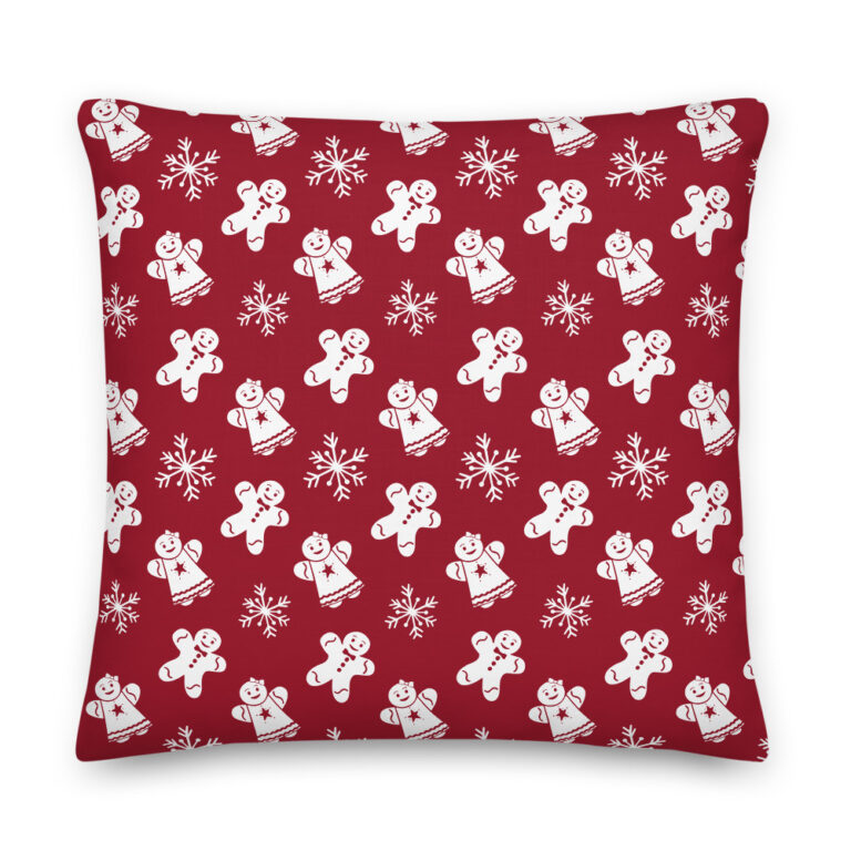 red gingerbread pillow