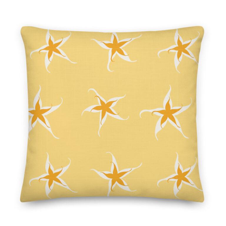 gold star pillow