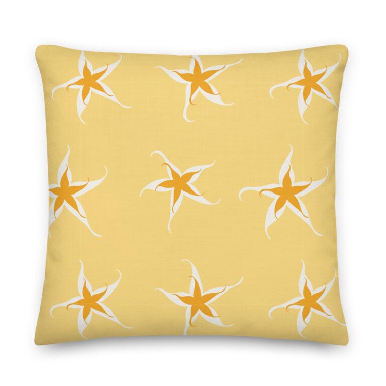 star yellow pillow