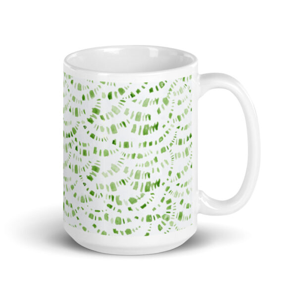 green boho mug