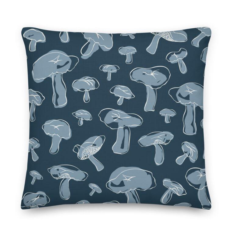 mushroom pillow navy