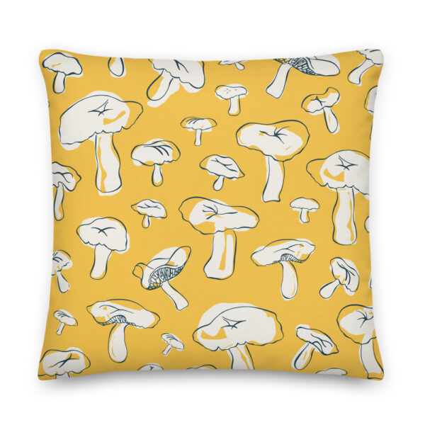 mushroom pillow yellow