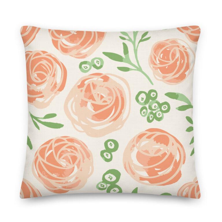 frosting tops pillow orange