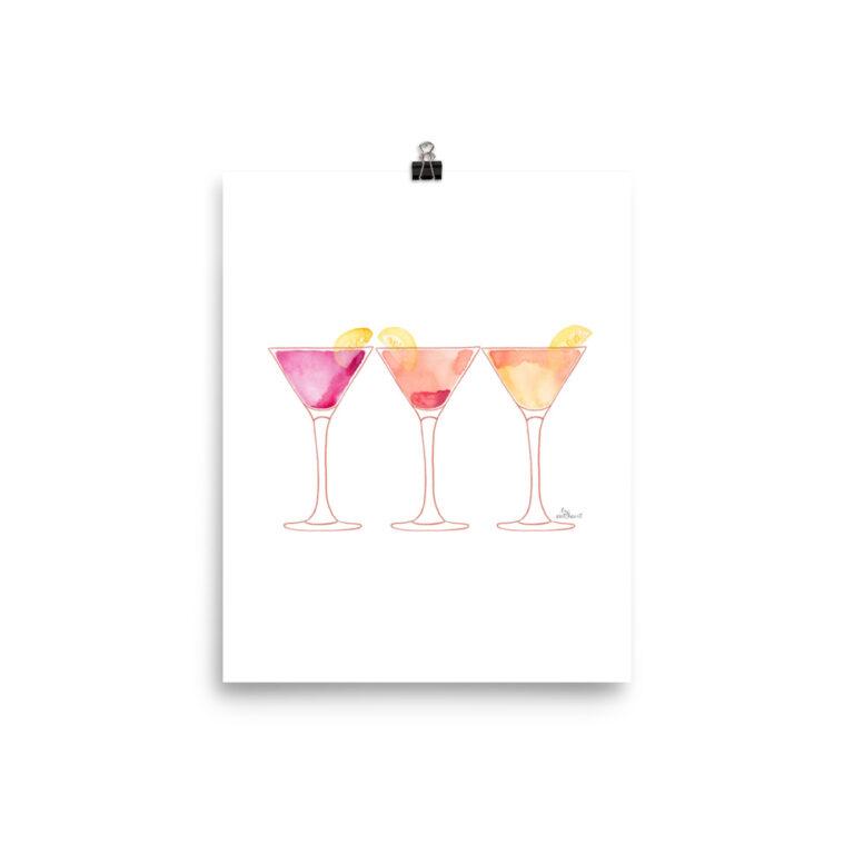 martinis art print