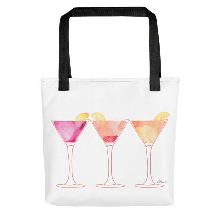 martinis tote bag